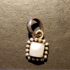 Silpada Sterling Silver & Pearl Necklace Pendant